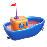 Abstract toy boat isolated on white background. Royalty Free Stock Photo