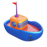 Abstract toy boat isolated on white background. Stock Image