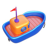Abstract toy boat isolated on white background. Stock Images