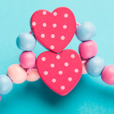 Abstract toy heart shapes Stock Images