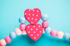 Abstract toy heart shapes Royalty Free Stock Image