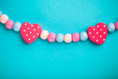 Abstract toy heart shapes Royalty Free Stock Photos