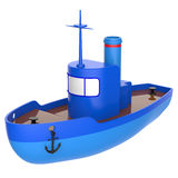 Abstract toy ship Royalty Free Stock Image