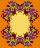 Abstract tracery frame painted by hand. V Royalty Free Stock Photography