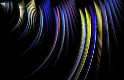 Abstract traces of light on black background. Royalty Free Stock Images