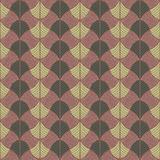 Abstract Traditional African Ornament. Warm brown colors. Seamle Stock Images