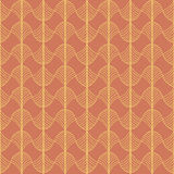 Abstract Traditional African Ornament. Warm orange colors. Seaml Stock Image