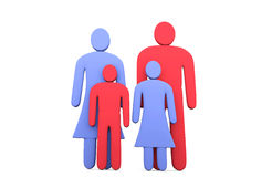Abstract traditional family of four. Conception of family relati Royalty Free Stock Images