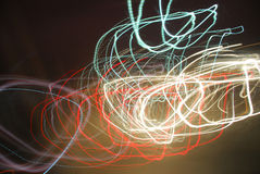 Abstract traffic light effect. Abstract blurred lighting effect with traffic lights Royalty Free Stock Photo