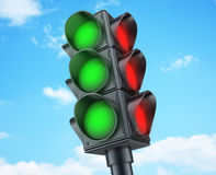 Abstract Traffic lights green Stock Image