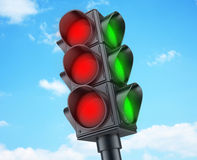 Abstract Traffic lights red Stock Photo