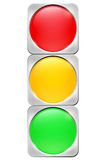 Abstract traffic lights on white background Royalty Free Stock Photos