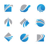 Abstract trail logos and icons Royalty Free Stock Image