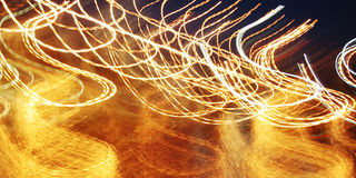 Abstract trails, photo in motion. Light trails, long exposure ph Stock Photo