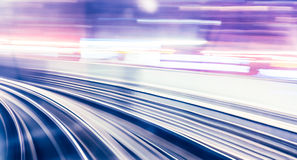 Abstract train moving Stock Photography