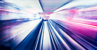 Abstract train moving Stock Images