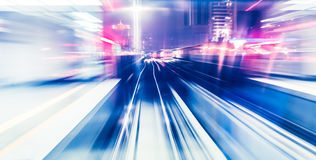 Abstract train moving Royalty Free Stock Photography