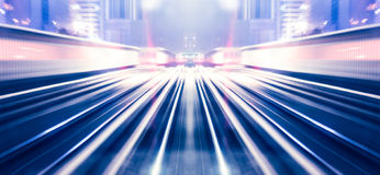 Abstract train moving Royalty Free Stock Images