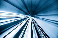 Abstract train moving Stock Image