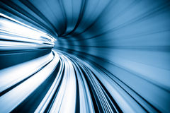 Abstract train moving Royalty Free Stock Image