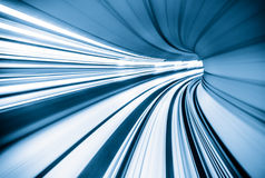 Abstract train moving Stock Photo