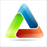 Abstract triangular sign Royalty Free Stock Photos