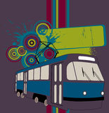 Abstract tram banner Stock Photo