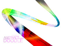Abstract translucent colors doodle scene Stock Images