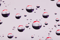 Abstract translucent water drops background Royalty Free Stock Images