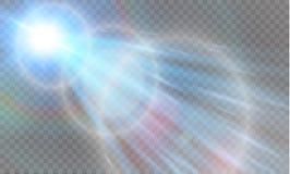 Abstract transparant speciaal het lichteffectontwerp van de lens gouden voor zonnegloed Vector Illustratie