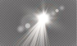Abstract transparant speciaal het lichteffectontwerp van de lens gouden voor zonnegloed Royalty-vrije Stock Foto's
