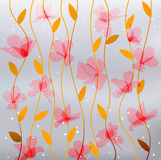 Abstract transparency pink flowers Stock Images