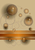 Abstract transparent balls and stars on a beige b Royalty Free Stock Image