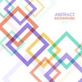 Abstract transparent colorful frames. Vector background Royalty Free Stock Images