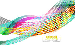 Abstract transparent colors lines scene. Vector wallpaper on a white background royalty free illustration