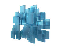 Abstract transparent cubes 3d. Render Royalty Free Stock Images