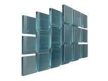 Abstract transparent cubes 3d. Render Stock Photos