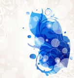 Abstract transparent floral background Stock Image
