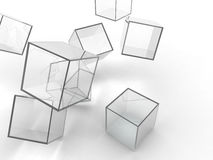 Glass cubes Royalty Free Stock Image
