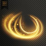 Abstract transparent golden light effect background. Vector vector illustration