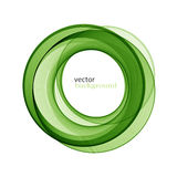 Abstract transparent green swirl circle Royalty Free Stock Photos