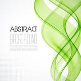 Abstract transparent green wave background Stock Image