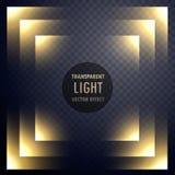Abstract transparent light effect frame design. Illustration stock illustration