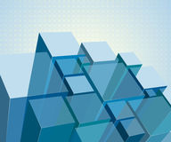 Abstract transparent modules Stock Photography