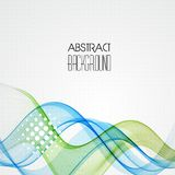Abstract transparent wave background Stock Image