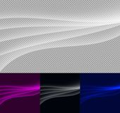 Abstract transparent waves, set on transparent background. Vector special effects for your artwork stock illustration