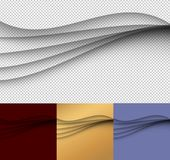 Abstract transparent waves, set on transparent background. Vector special effects for your artwork royalty free illustration