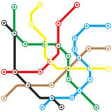 Abstract transport map Stock Images