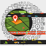 Abstract transportation scheme. Royalty Free Stock Images