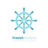 Abstract travel maritime vector logo Royalty Free Stock Photos